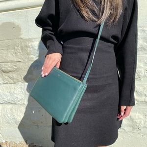 Celine Large Trio in Forest Green